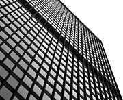 Office Cubicle Framed Prints - Office Building Facade Framed Print by Valentino Visentini
