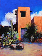 Tucson Arizona Pastels Acrylic Prints - Office Space Acrylic Print by M Diane Bonaparte