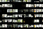 Rome Photos - Office windows by Fabrizio Troiani