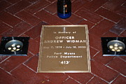 Police Officer Prints - Officer Widman Memorial Print by Robert Floyd