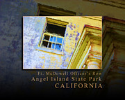 Nike Metal Prints - Officers Row Window - Angel Island State Park San Francisco Bay California Metal Print by David Rigg