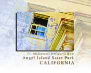 Sausalito Metal Prints - Officers Row Window - Angel Island State Park San Francisco Bay California HK Metal Print by David Rigg
