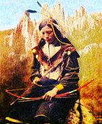 Fine American Art Digital Art Prints - Oglala Homeland Print by Lianne Schneider