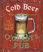 Glass Paintings - OGradys Pub by Debbie DeWitt