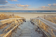 Ogunquit Prints - Ogunquit Beach Boardwalk Print by Katherine Gendreau