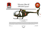 U.s. Army Digital Art Posters - OH-6A Electric Olive II Loach Poster by Arthur Eggers