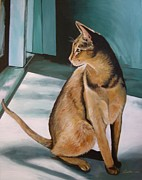 Oh Beautiful House Cat Print by J Linder