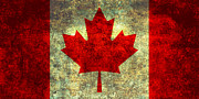 Canadian Digital Art Posters - Oh Canada Poster by Bruce Stanfield