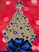 Snowflake Posters - Oh Christmas Tree Poster by Cheryl Young
