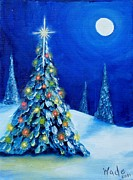 Moon Paintings - Oh Christmas Tree by Craig Wade