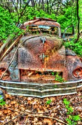 Rusted Cars Framed Prints - Oh My Aching Head- Auto Personalities #7 Framed Print by Dan Stone