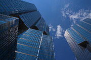 Oh So Blue - Downtown Toronto Skyscrapers Print by Georgia Mizuleva
