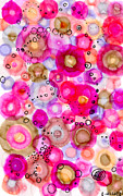 Circles Drawings Framed Prints - Oh so Bubbly Framed Print by Regina Valluzzi