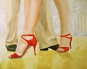 Dance Shoes Painting Posters - Oh Those Red Shoes Poster by Keith Thue