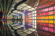 Installation Art Prints - OHare Airport Underpass 1 Print by Judith Barath