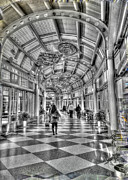 Airport Concourse Prints - Ohare Terminal Two Print by David Bearden