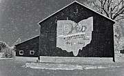 Sleet Photos - Ohio Barn In Winter by Dan Sproul