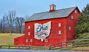 Ohio Red Prints - Ohio Bicentennial Barn Print by Jack Schultz