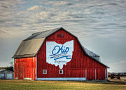Ohio Red Framed Prints - Ohio Bicentennial Barn -Van Wert County Framed Print by Pamela Baker