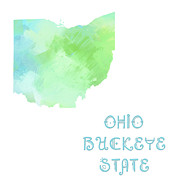 Ohio Mixed Media - Ohio - Buckeye State - Map - State Phrase - Geology by Andee Photography