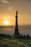 Confederate Monument Prints - Ohio Monument at Cemetery Hill Gettysburg Print by John Greim