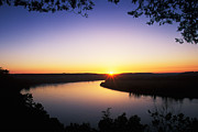 Ohio River At Sunrise Print by David Davis