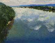 Ohio River Painting Posters - Ohio River Painting Poster by Michael Creese