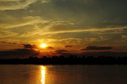 Evansville Indiana Photos - Ohio River Sunset by Andrea Kappler