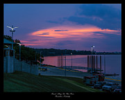 David E Lester Posters - Ohio River Sunset Poster by David Lester