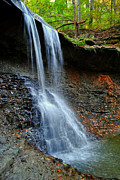 Splish Splash Prints - Ohio Waterfall Print by Robert Harmon