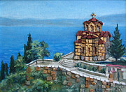 Monastery Mixed Media - Ohrid by Milan Pilipovic