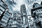 Oil Refinery Photo Posters - Oil And Gas Power Industry Poster by Christian Lagereek