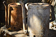 Picker Metal Prints - Oil Cans Picking Metal Print by Gwyn Newcombe