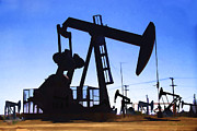 Oil Pumps Prints - Oil Fields Print by Chuck Staley