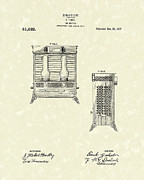 Oil Drawings - Oil Heater 1917 Patent Art by Prior Art Design