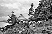 Pemaquid Lighthouse Framed Prints - Oil House Framed Print by Nikolyn McDonald