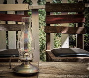 Oil Lamp Digital Art Posters - Oil Lamp 2 Poster by Gandz Photography