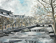 Nancy Van den Boom - Oil painting Haarlem...