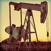 Pumping Oil Framed Prints - Oil Pump Framed Print by Tony Grider
