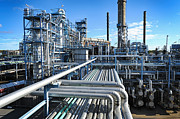 Oil Refinery Photo Posters - Oil Refinery Overall View Poster by Christian Lagereek