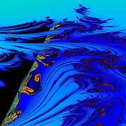 Oil Slick Digital Art - Oil Slick by Don Bristow