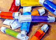 Tubes Paintings - Oil Tubes I by Mark Hartung