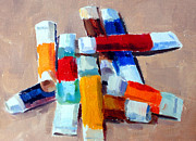 Tubes Paintings - Oil Tubes III by Mark Hartung
