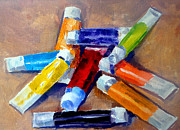 Tubes Paintings - Oil Tubes IV by Mark Hartung