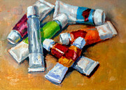 Tubes Paintings - Oil Tubes V by Mark Hartung