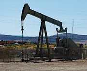 Oil Pumper Posters - Oil Well  Pumper Poster by Dany Lison