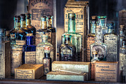 Gary Heller Metal Prints - Ointments Tonics and Potions - A 19th Century Apothecary Metal Print by Gary Heller