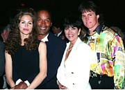 O.j. Simpson - Paula Barbieri - Kris And Bruce Jenner Party In Palm Springs Print by Gary Kaplan