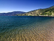 Okanagan Framed Prints - Okanagan Lake Framed Print by Nth Alien
