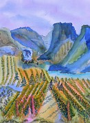 Mountains Paintings - Okanagan Vineyard 2 by Warren Thompson